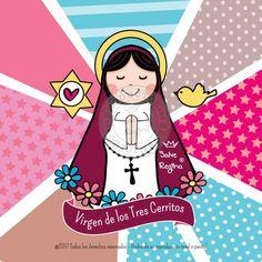 Virgen De Los Tres Cerritos De Salta - Santoral Blessed Virgin Mary, Madonna, Princess Peach, Saints, Crafts For Kids, Religion, Clip Art, Children, Fictional Characters