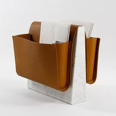 Saddle Magazine Rack by Noble & Wood