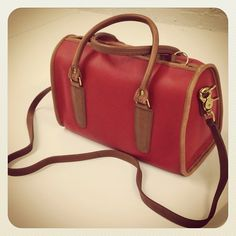 The Coach Madison Spectator Satchel in red circa 1990 #ThrowbackThursday #tbt