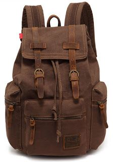 EcoCity Vintage Canvas Backpack