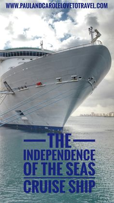 How big is the Independence of the Seas? Take a look at this short video that shows you up close how big she really is! #royal #caribbean #independence #cruising #cruise #cruiseship #size