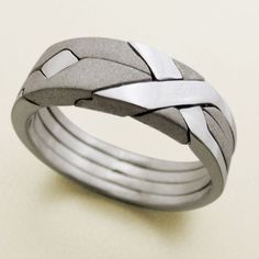 Laser Etched Aquatic Ring | 28 Unique Wedding Rings for Men