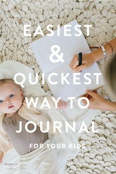The best baby book and journal a parent could want. Beautiful, simple and easy to use! | Promptly Journals