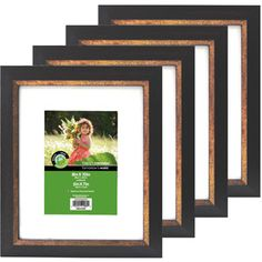 mainstays 4x6 format picture frame set of 12 frames photo walls and black. Black Bedroom Furniture Sets. Home Design Ideas