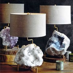 Want! mineral stand lamp by roost