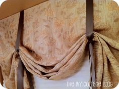 No sew curtian DIY. I need new curtains for my bathroom. This is a possible idea.
