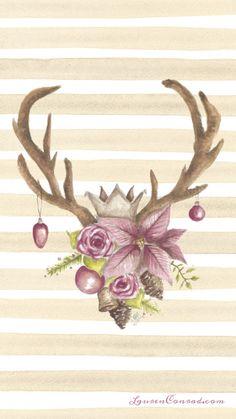 LaurenConrad.com Holiday iPhone Wallpaper