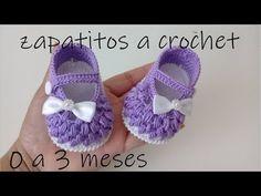 Zapatitos a Crochet muy fáciles para bebes tejido tallermanualperu - Смотреть видео бесплатно онлайн Crochet Baby Sandals, Crochet Bows, Crochet Baby Clothes, Crochet Stitches, Crochet Patterns, Baby Shoes Pattern, Baby Dress Patterns, Baby Boots, Baby Girl Shoes