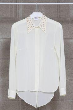 studded collar shirt