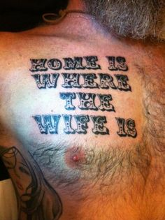 D'awwww. My husband would probably never get a tattoo, but if he did, I know it would say something to this effect. ^_^