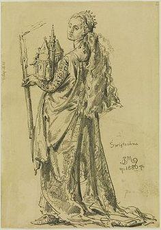 Świętosława Swatawa - obraz Jana Matejki z roku 1886