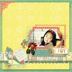 This is the digital layout created by Webster's Pages Botanical Christmas digital designs. TFL!