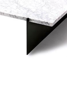 """Nissler"" table by Caste, marble detail Design Furniture, Table Furniture, Architecture Details, Interior Architecture, Joinery Details, Table Desk, Cocktail Tables, Decoration, Interiores Design"