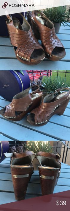 Michael Kors Wedges Michael Kors wooden and leather wedges. Good condition, some small scraps in the wood. Leather is in good shape. No tears in straps. Bundle to save, open to all reasonable offers  NEXT BUSINESS DAY SHIPPING Michael Kors Shoes Wedges