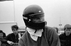 Dan Gurney's first race in BELL Full face Bellstar Helmet  . . .  Sweater maybe not so safe !