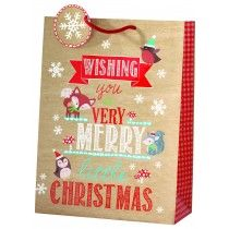 cancer research UK woodlands large bag Christmas Gift Bags, Christmas Shopping, Bags 2014, Cancer Research Uk, Merry Little Christmas, Foil Stamping, Presents, Gift Wrapping, Holiday Decor