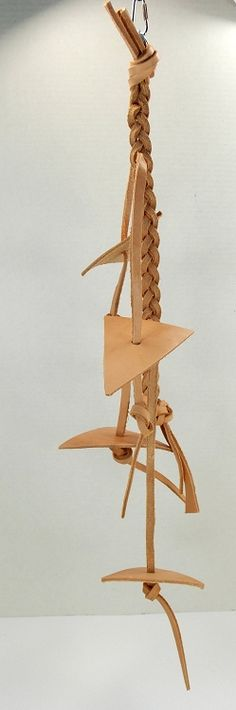 Leather bird toys are durable but provide foraging satisfaction