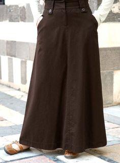 Basic A-Line Flare Skirt