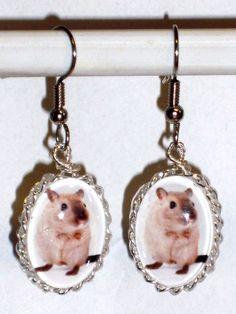 Ohrringe Maus Tiere Ratte Damen Hänger Durchzieher Ohrschmuck Modeschmuck Glas