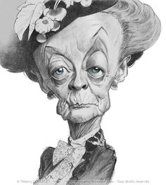 Maggie Smith by Thierry Coquelet