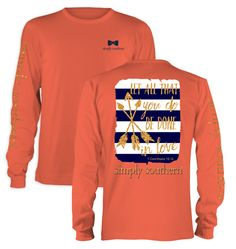 Simply Southern Preppy Be Done In Love Arrows Long Sleeve T-Shirt from Simply Cute Tees. Simply Southern Shirts, Preppy Southern, Southern Prep, Southern Clothing, Southern Style, Southern Marsh, Southern Charm, Long Sleeve Tops, Long Sleeve Shirts