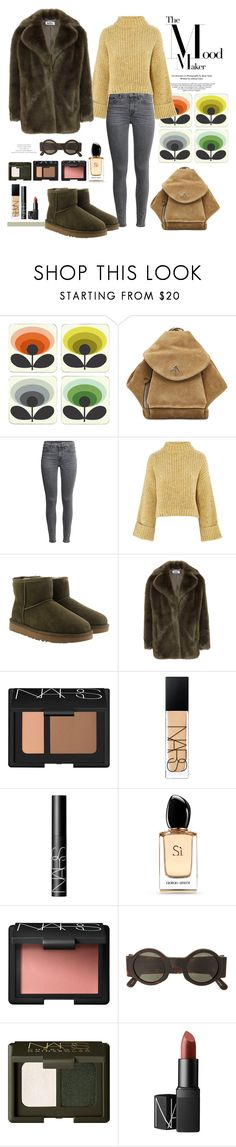 """04.01.18"" by caglatersak ❤ liked on Polyvore featuring Orla Kiely, MANU Atelier, Topshop, UGG, NARS Cosmetics, Giorgio Armani, Linda Farrow and polyvoreblogger"
