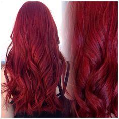 Vibrant red hair.