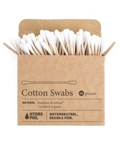 91 Tips & Tricks – Plastic-free Life without garbage Bathroom without plastic – plastic cotton swabs Beauty Planet, Cotton Swab, Coton Biologique, Peta, Zero Waste, Biodegradable Products, Bud, Sustainability, The Balm