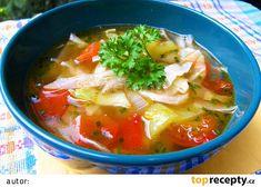 Tukožroutská polévka recept - TopRecepty.cz Liquid Detox, Dieta Detox, Detox Plan, Natural Detox, Thai Red Curry, Food And Drink, Soup, Vegan, Baking