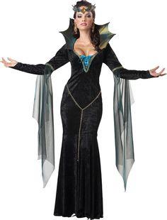 Este vestido de malvada es perfecto para la fiesta de Halloween.