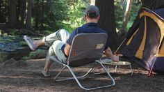 The Shape Field Chair can be used for camping, a day at the beach, or just relaxing in your backyard