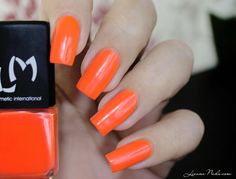 LMcosmetic - Peter Max [swatch] #coral #mani #polish #nails  - See more nail looks at bellashoot.com & share your faves!