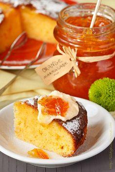 Творожно-апельсиновый пирог.