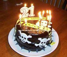 Caution tape skull cake