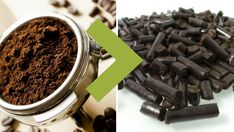 Reciclaje: así se transforma el café en pellets para calderas.