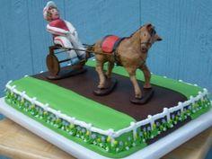 Harness Racing Cake ~ LOVE this idea!