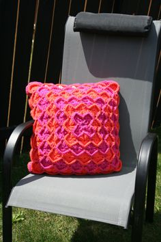 Crochet Decorative Catherine's Wheel Throw Pillow by JennisCrochet, $40.00