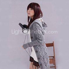 Women's Hooded Long Cardigan - USD $ 16.32