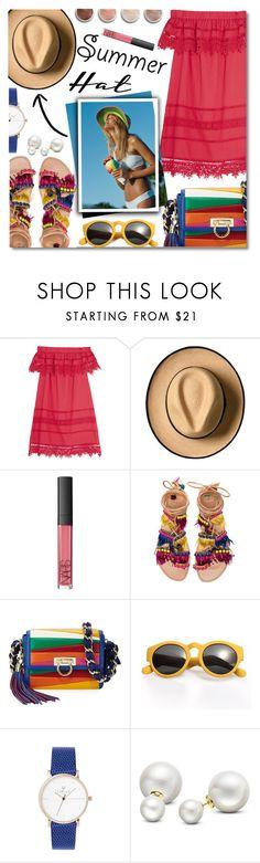 """Summer Hat"" by anilovic ❤ liked on Polyvore featuring Sea, New York, Terre Mère, NARS Cosmetics, Elina Linardaki, Salvatore Ferragamo, Allurez and summerhat"