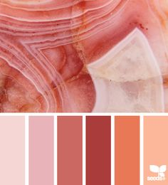 agate tones - design seeds. pretty color scheme #orange #pink