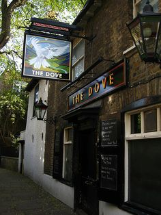 The Dove, Hammersmith | by Laura Nolte. Set right on the River Thames it started in the 18th century as a coffee house and has a lovely terrace, and Ernest Hemingway amongst other literary figures drank here