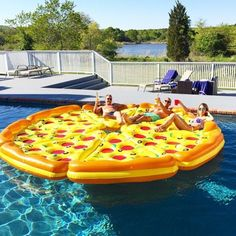 You haven't lived life until you've lounged on a pizza floaty!