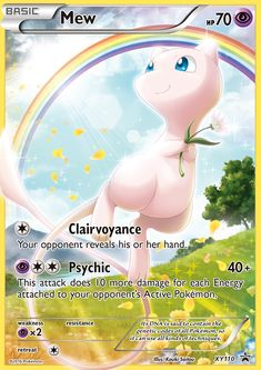 Mew Holo Promo XY 110 Mythical Pokémon Collection: Release information This card will be released as one of the English XY Black Star Promotional cards released in the Mythical Pokémon Collection - Mew on February Funny Pokemon Cards, Pikachu Pokemon Card, Pokemon Tcg Cards, Pokemon Cards For Sale, Pokemon Trading Card, Mew E Mewtwo, Pokemon Card Template, Pokemon Cards Legendary, Mythical Pokemon