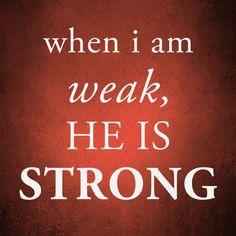 He Is Strong    http://www.facebook.com/LikesJesus