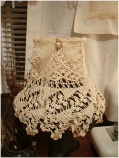 ~ The Feathered Nest ~: Altered Lampshades...a lampshade, I know, I know...but what a cool purse it would make!