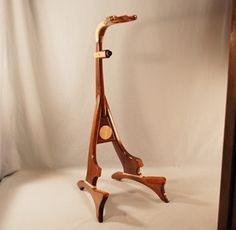 Walnut Guitar Stand with Curly Maple