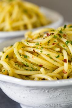 Pasta aglio e olio is a classic Italian pasta dish that has the simplest ingredients but full of big flavor. Incredibly easy to throw together any night of the week when you're craving some light pasta!