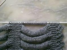 Monter des mailles au milieu d'un tricot Tuto montage de mailles à l'anglaise 20