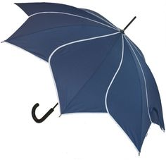 This navy petal swirl umbrella with white trim creates the effect of overlapping flower petals. Smart flower petal swirl umbrellas from Umbrella Heaven. Ladies Umbrella, Vintage Umbrella, Brollies, Pretty Tough, Umbrellas Parasols, Faux Bamboo, Elegant Flowers, Navy Blue Dresses, White Trim