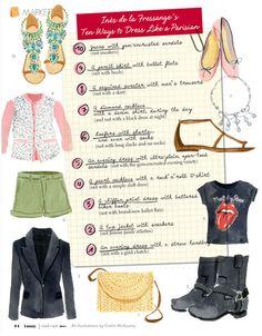 10 maneras de vestirse como una parisina por Inès de la Fressange #lifestyle